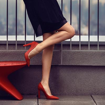 新版女式鞋店取名起名方法——红色高跟鞋