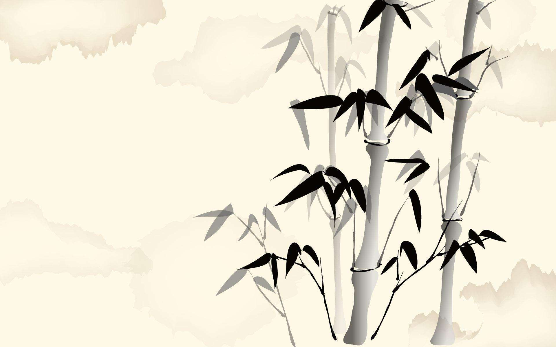 国画风的竹