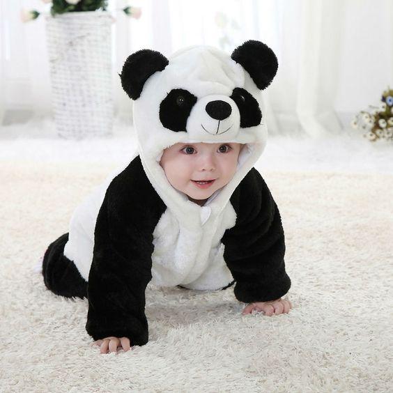穿着可爱动物服装的宝宝,狗年五月出生的孩子起名方法
