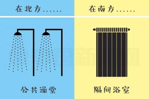 南北洗澡差异